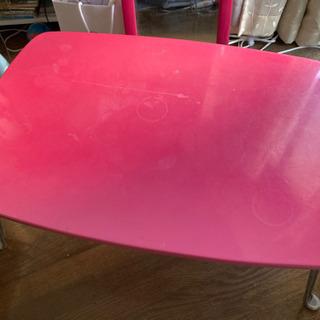 折り畳み机 ピンクの画像