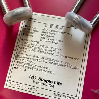 折り畳み机 ピンク - 家具