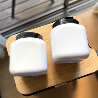 mon•o•tone 黒い蓋のCube Canister 2個セット