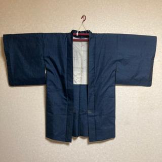 5MKO421  着物 男性用 羽織 和服 デニム柄 ナイロン