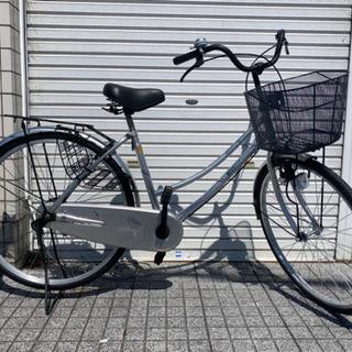 【ネット決済・配送可】【中古自転車】26インチ変速なし カゴ、ラ...