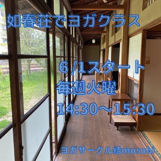 6/1(火)スタート!【如春荘でヨガクラス】