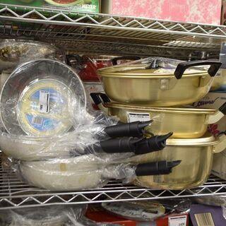 【新品】金物祭り!鍋、やかん、フライパンなど、新品多数あります!...