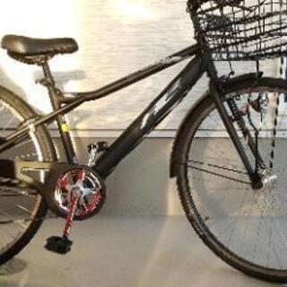 自転車(カゴ、ライト、フェンダー付)