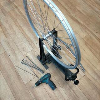 自転車の車輪組み教えます。自転車安全整備士の試験準備に如何ですか?
