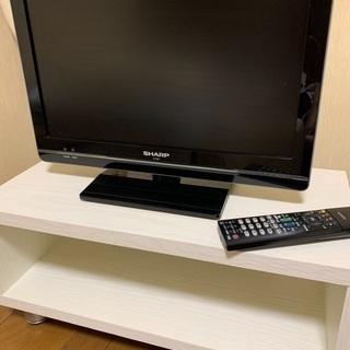 シャープ19型液晶テレビ