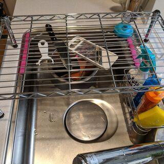 【無料】アイリスオーヤマ メタルラック シンク上の食洗機設置に最適 - 売ります・あげます