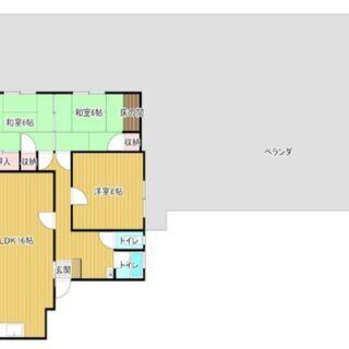 バルコニーが127.5m2、ドッグランできる広さです!松山市福音...