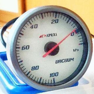 APEXiのバキューム計60Φ アペックス(ヴィッツRSで…