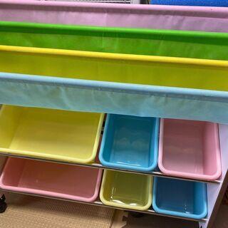 【ネット決済】美品【本とおもちゃを一緒に整理♬】おもちゃ棚 組み立て式