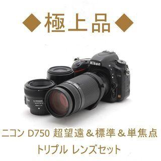 【ネット決済・配送可】◆極上品◆ニコン D750 超望遠&標準&...