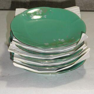 未使用 小皿 花柄 直径13㎝ 5個 吉田芳彩