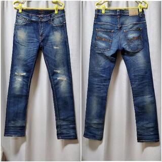 【ネット決済・配送可】《美品》nudie jeans peter...