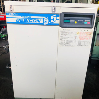 動作確認済み HITACHI小型空気圧縮機-BEBICON 5....