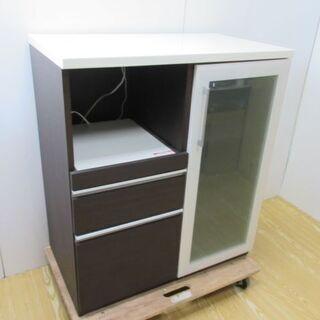 【ネット決済・配送可】jtp-0184 食器棚 ダークブラウン