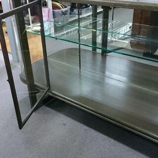 (湾曲したガラスの)大型ガラスショーケース 高く買取るゾウ八幡東店 - 家具