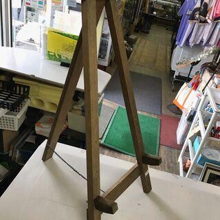木製イーゼル 受け高さ3段階調整 スタンド 看板 展示 三脚 店...