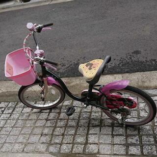 【ネット決済】キッズ 子供 自転車 18インチ ミニーマウス引き...