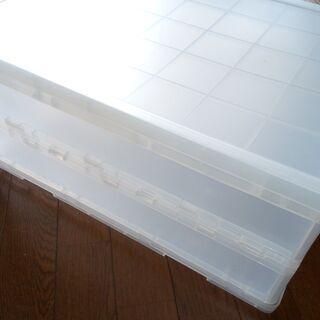 無印ポリプロピレンキャリーボックス・折りたたみ式・大 2つ をお...