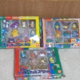 希少品☆ポケモン指人形クリア☆3セット箱入りですがボロボロです。