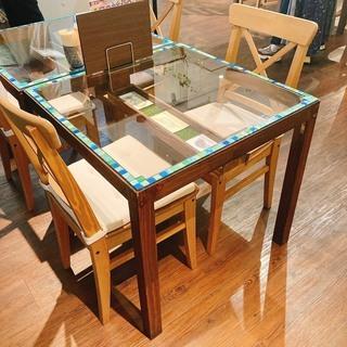 ダイニングテーブル75cm幅・椅子2脚付き