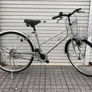 【ネット決済・配送可】【中古自転車】26インチ変速なし 両立スタ...