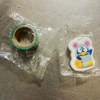 ドンキのドンペンの消しゴムとテープ