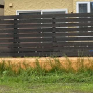 木製フェンス作ります!