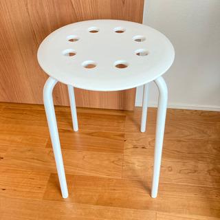 IKEA スツール 白