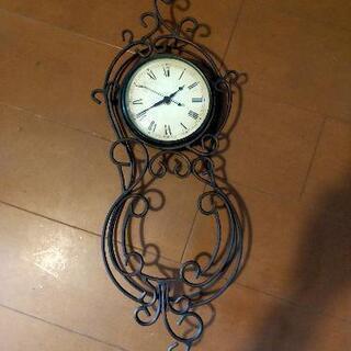 【ネット決済】アンティーク風スチール掛け時計