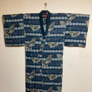 6MKO428  男性用 着物 浴衣 扇柄 シンプル 単衣