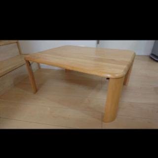 【ネット決済】折り畳みテーブル ウッド 木製 ちゃぶ台 しっかり...