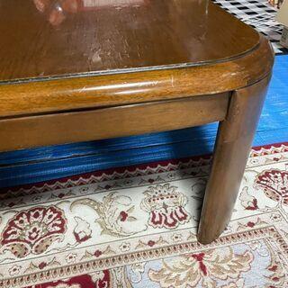大型コタツ テーブルは年季が入ってますが、コタツ部分は去年…