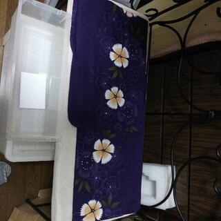 浴衣 濃い紫色