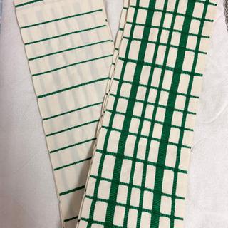 ◆着物帯 白と緑◆