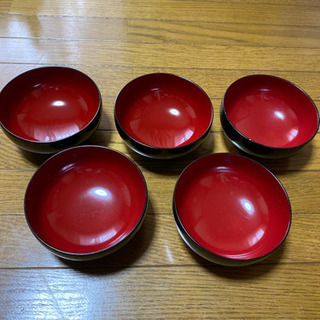 ハナエモリ しっきシック 汁椀 5客 (うち2客新品未使用)