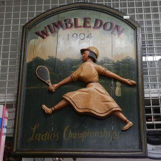 ウィンブルドン テニス 1904 木製パネル オブジェ【モ…