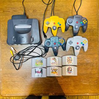 すぐ遊べる☆ニンテンドー64本体&ソフト6個メモリカードセット