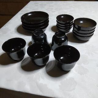 昭和レトロ 漆塗り食器