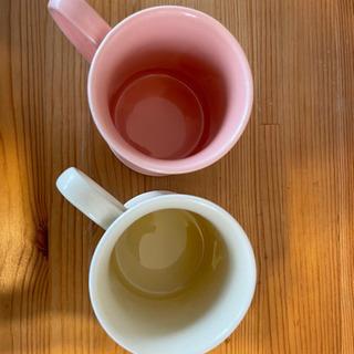 アフタヌーンティー マグカップ ピンク白セット