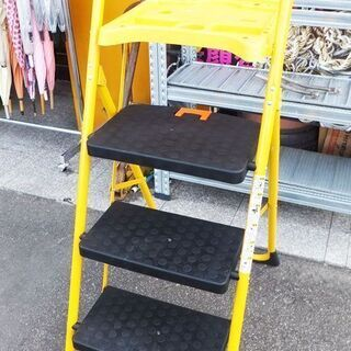 ◆野澤産業◆折りたたみ式脚立 3段 トレイ付き 作業用 DIY ...