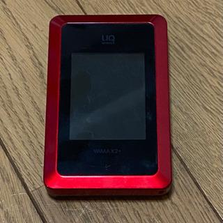 UQ WiMAX2+ 赤 充電器無し本体