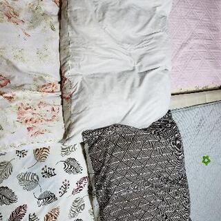【ネット決済】羽毛布団2枚+とめやすい布団カバー2枚の4枚セット