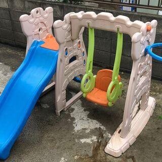 大型遊具 子供用 ブランコ 滑り台【引き取り限定】