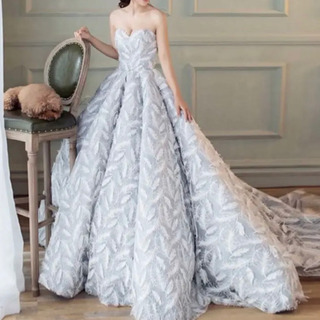 【ネット決済】フェザー模様のオシャレなドレス!      流行り...