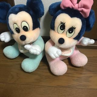 ベビーミッキー、ミニーマウス ぬいぐるみ