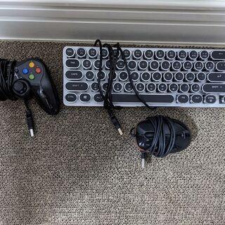 【取引中】キーボード ゲームコントローラー マウス 無料 あげます
