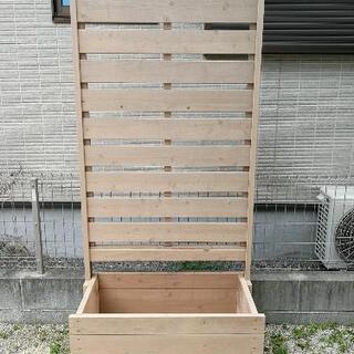 【ネット決済】プランター付ウッドフェンス(2台セット)