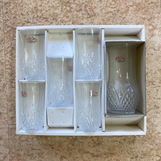 昭和レトロ ガラスコップ、ポットセット