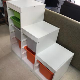 IKEA 階段式収納 キッズ 収納 子供部屋 お片付け シェルフ...